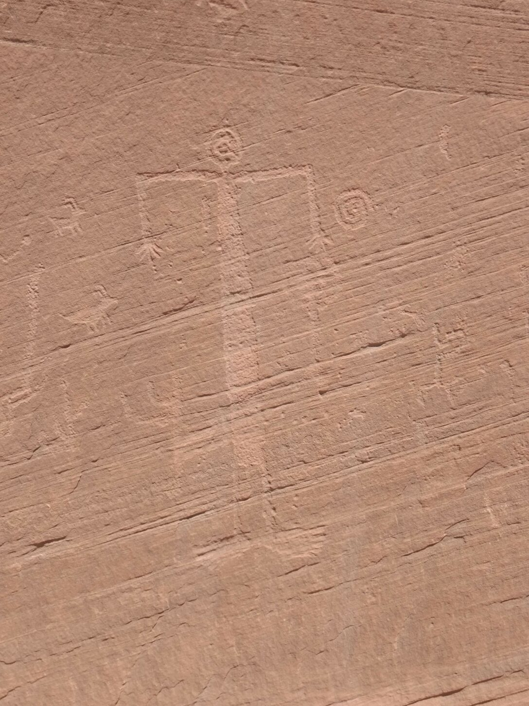 Petroglyph panel near White Pocket