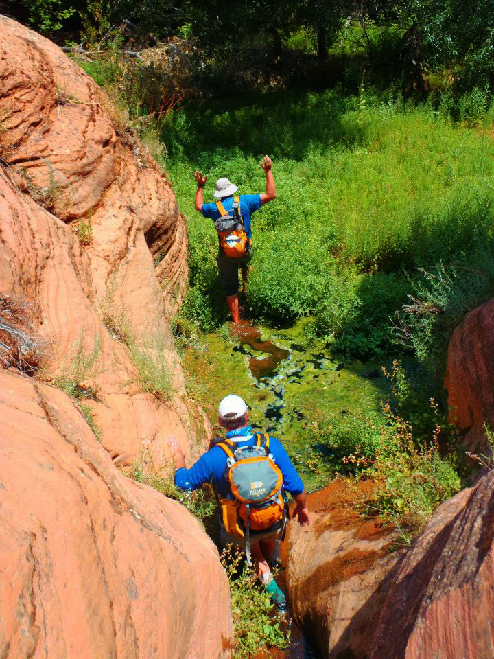 Summer mode canyoneering