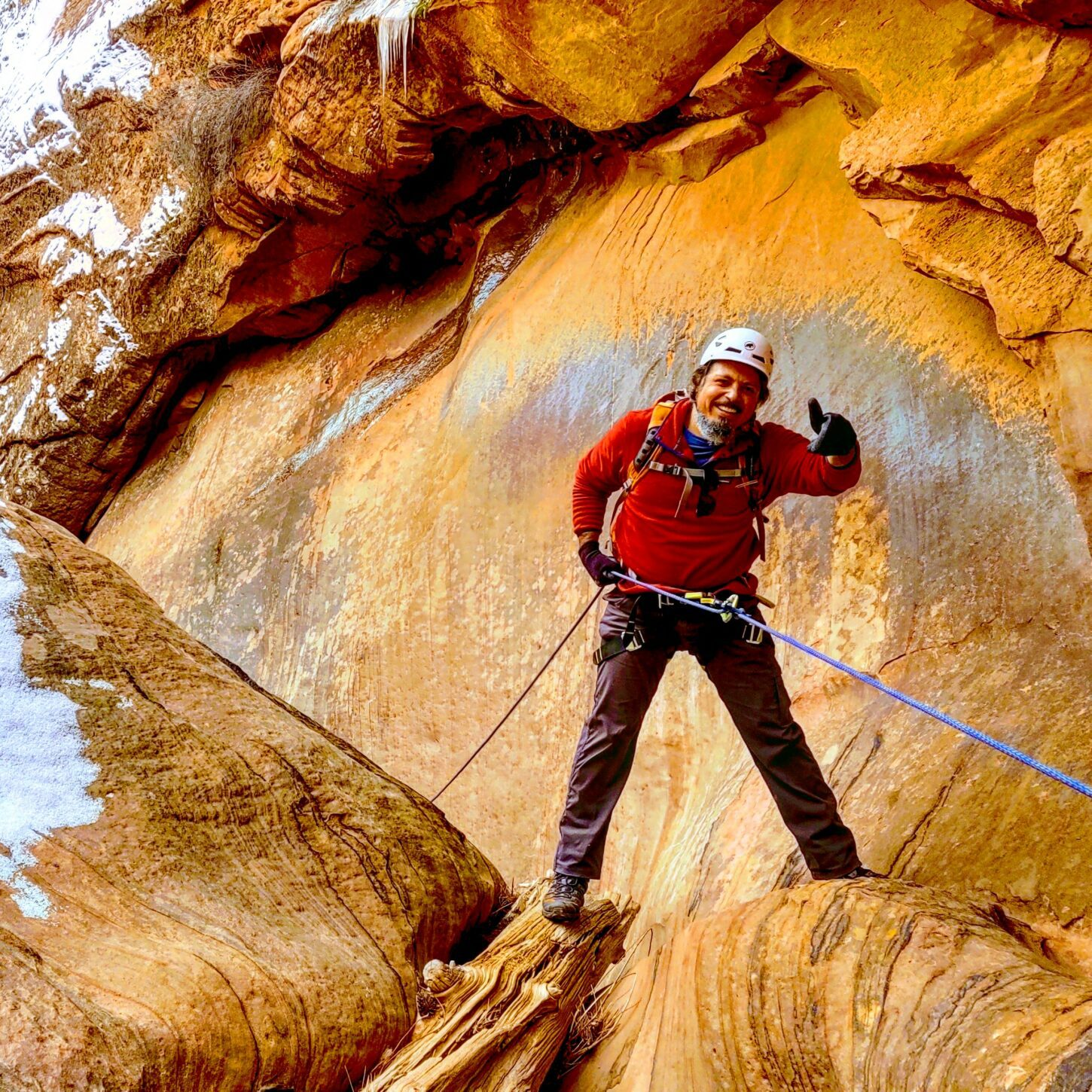 Cold weather canyoning